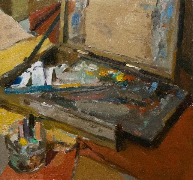 """Oil painters Tools"" original fine art by Randall Cogburn"