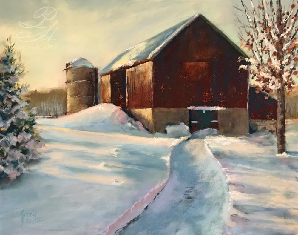 """Bower Farm"" original fine art by Pamela Hamilton"