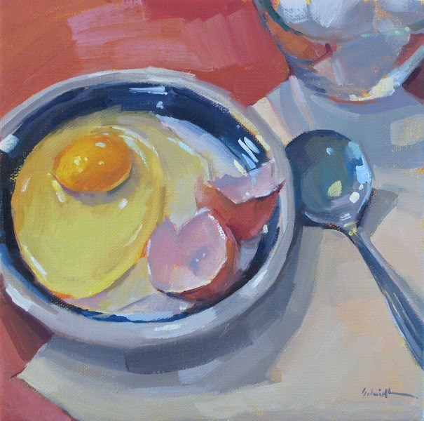 """Cracked With a Spoon"" original fine art by Sarah Sedwick"