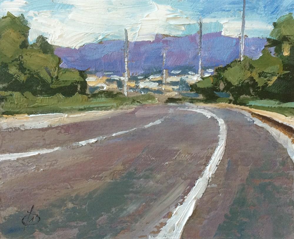 """THE ROAD TO FOOTHILL RANCH"" original fine art by Tom Brown"
