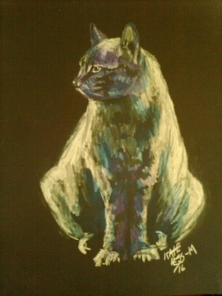 """Cat sketch: Negative Cat"" original fine art by Kate Less-Madsen"
