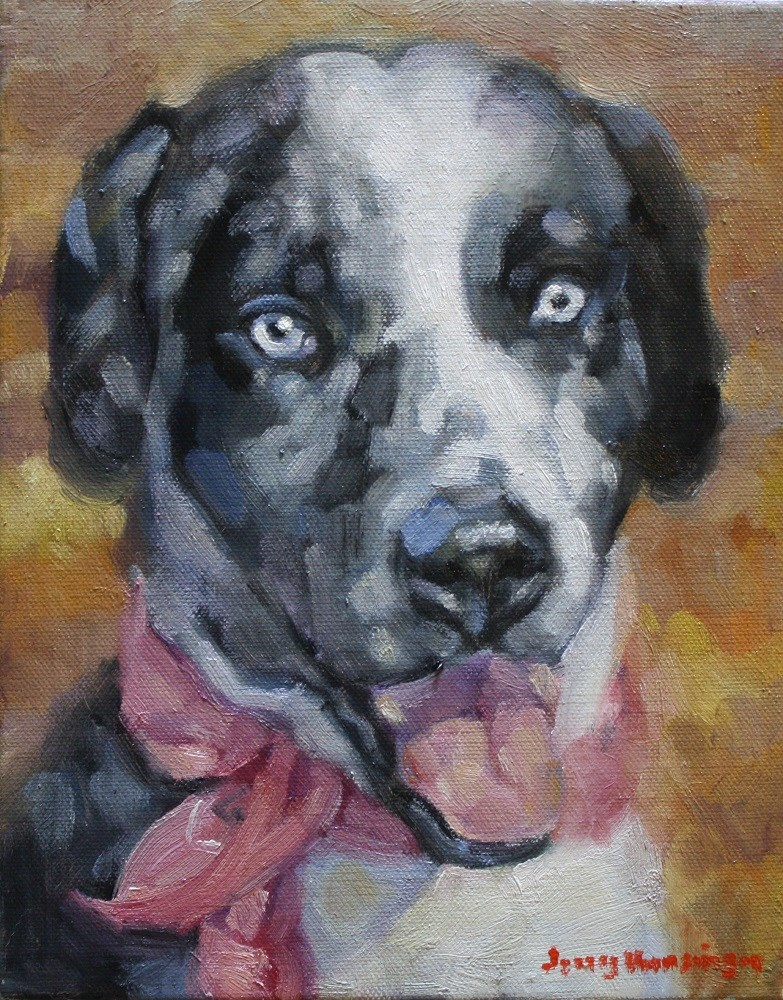 """Catahoula"" original fine art by jerry hunsinger"