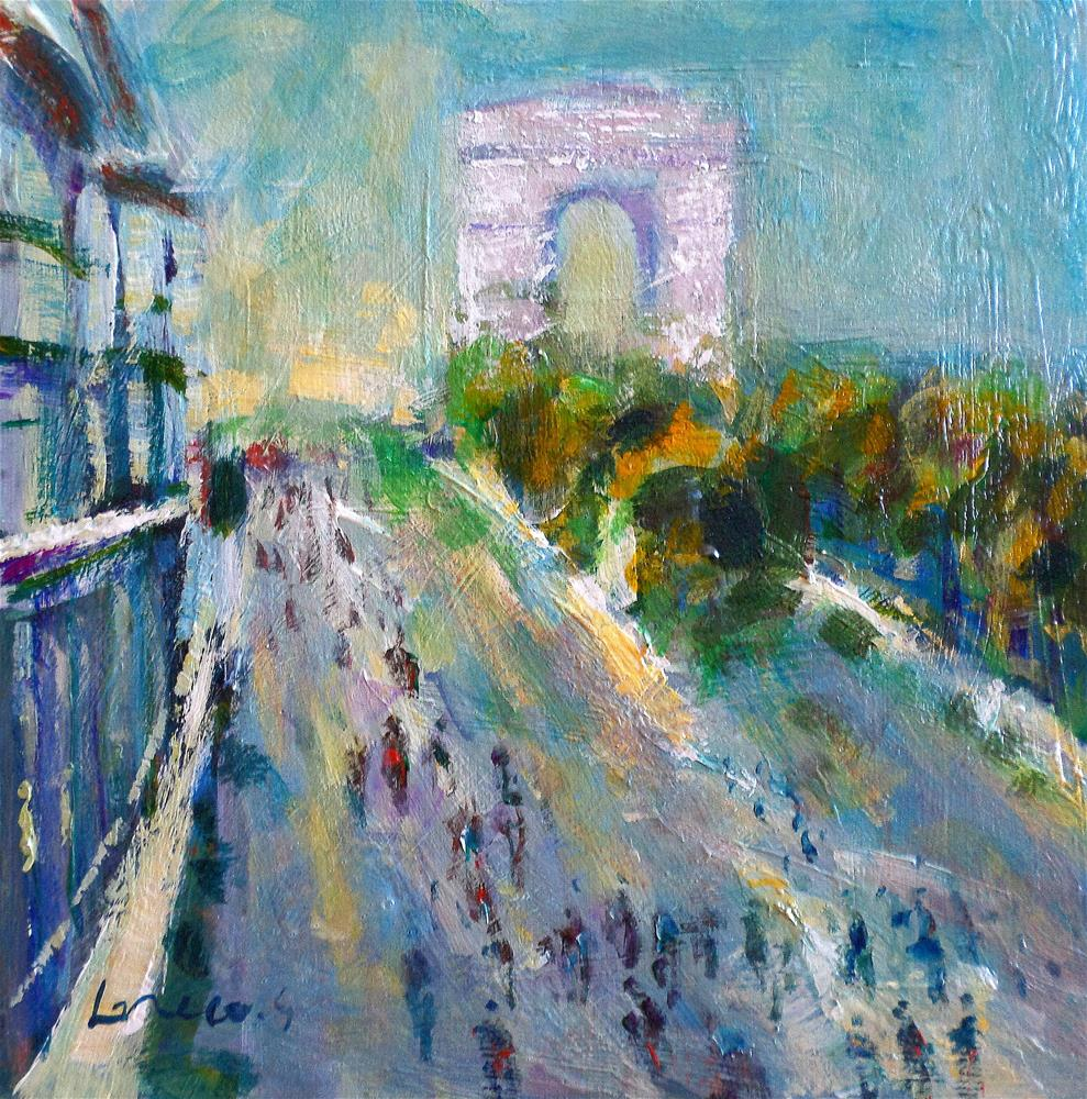 """les champs elyséesparis"" original fine art by salvatore greco"