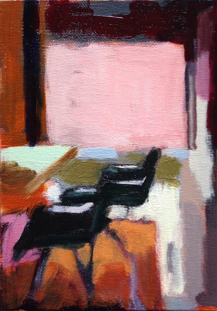 """Pink Wall"" original fine art by Pamela Hoffmeister"