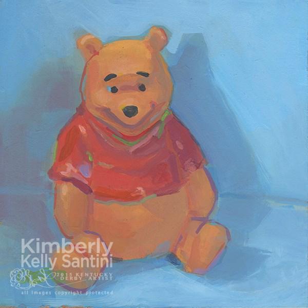"""Pooh Bear IV"" original fine art by Kimberly Santini"