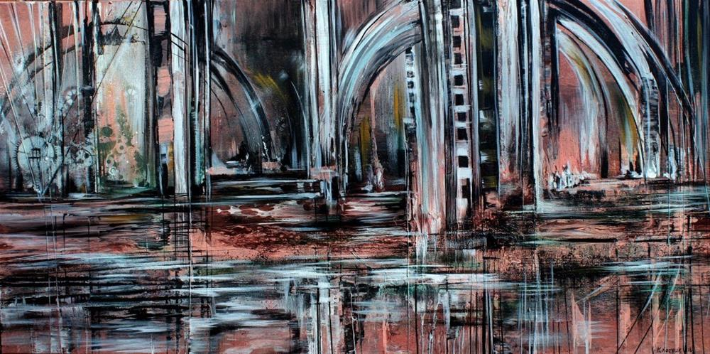 """Old Train Station"" original fine art by Khrystyna Kozyuk"