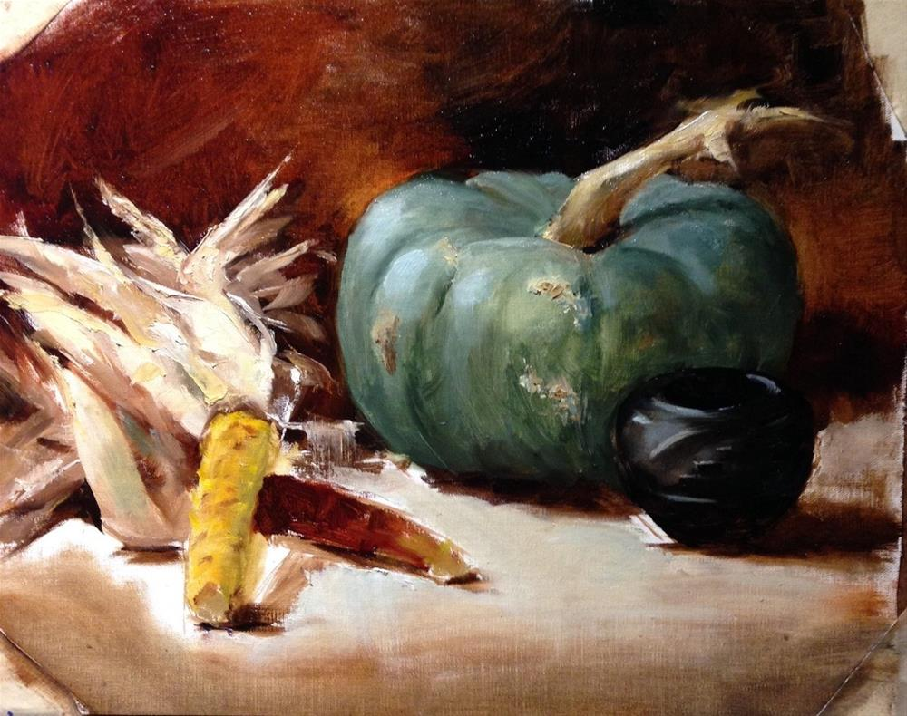 """Blue Is The New Orange"" original fine art by Dorothy Woolbright"