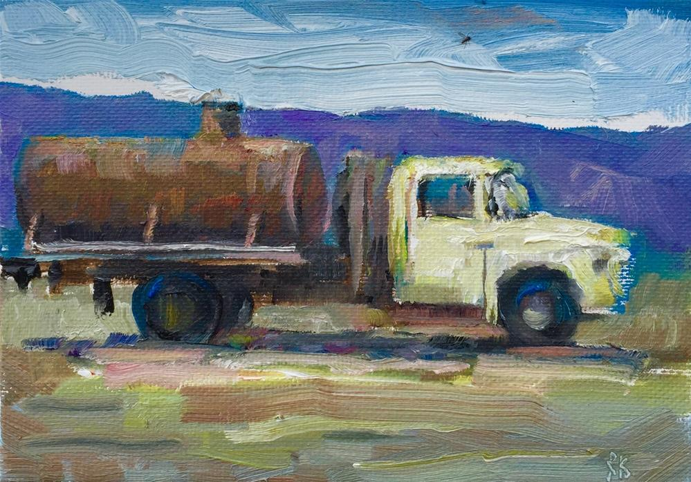 """Old Water Truck"" original fine art by Rachel K Schlueter"