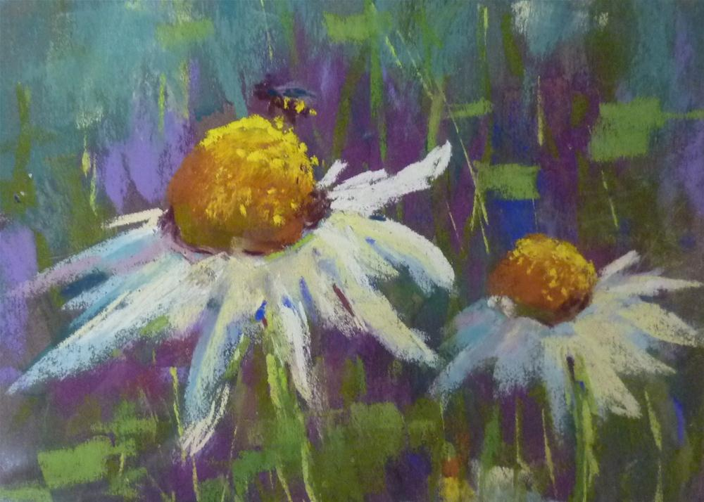 """How to Paint a Daisy"" original fine art by Karen Margulis"