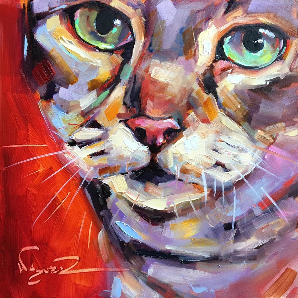 """All in the Eyes"" original fine art by Olga Wagner"
