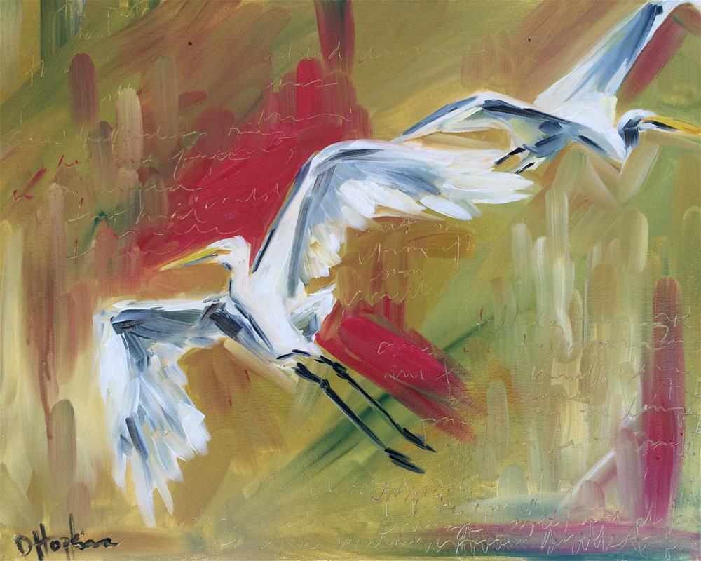 """White Fire"" original fine art by Denise Hopkins"