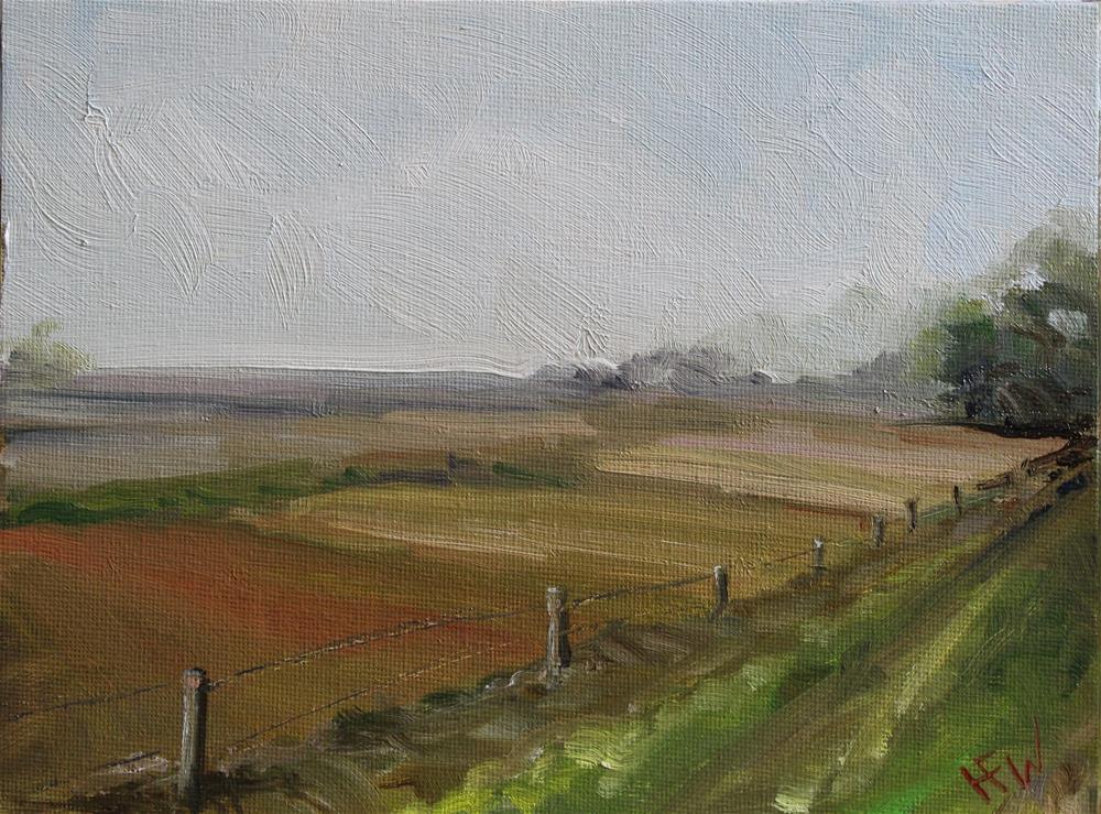 """Bean Fields"" original fine art by H.F. Wallen"