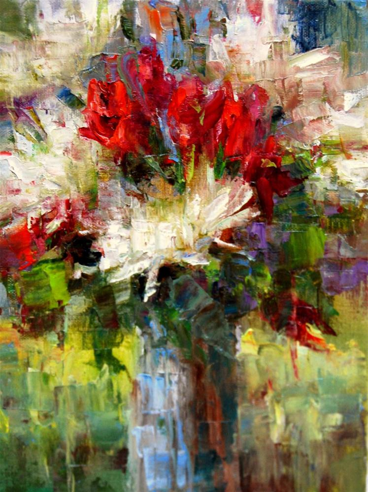 """Fracturing the Flowers"" original fine art by Julie Ford Oliver"