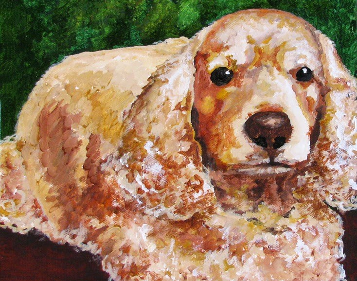 """Buffy"" original fine art by Nan Johnson"