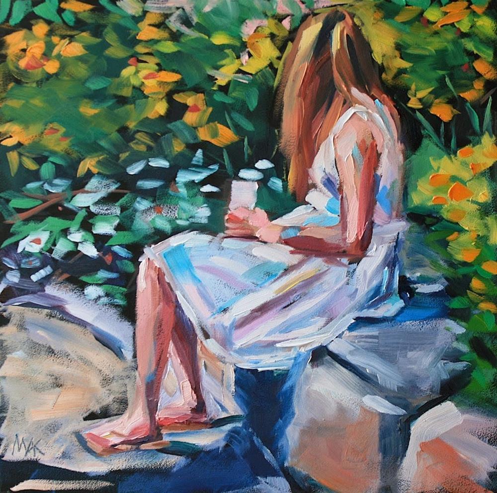 """Garden Sketch"" original fine art by Mary Anne Cary"