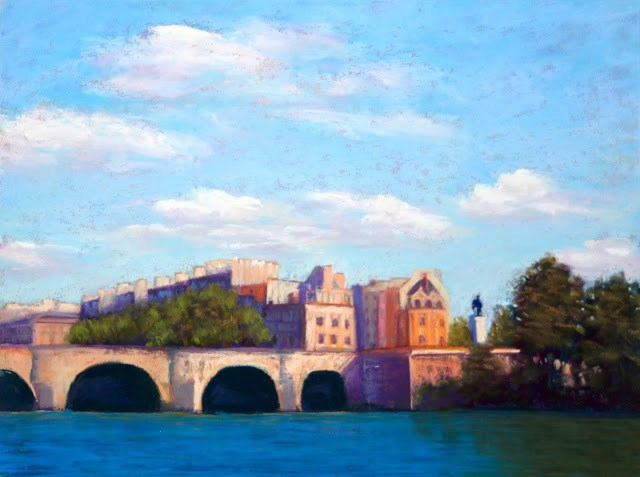 """Along the Seine"" original fine art by Sharon Lewis"