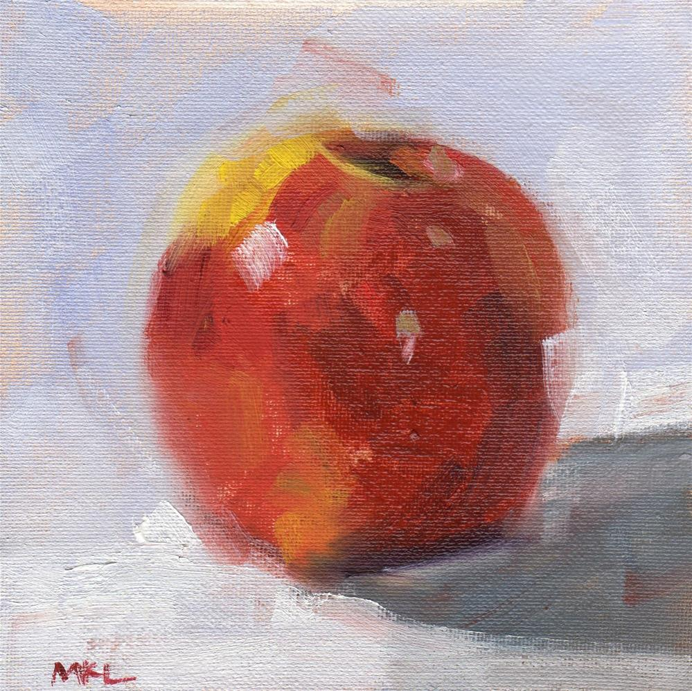 """Apple"" original fine art by Marlene Lee"