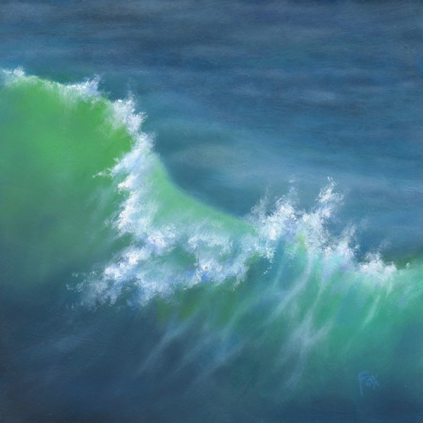 """Wave #1"" original fine art by Barbara Fox"