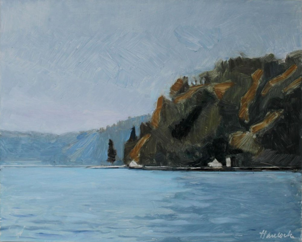 """""""Dolphin Point"""" original fine art by Gretchen Hancock"""