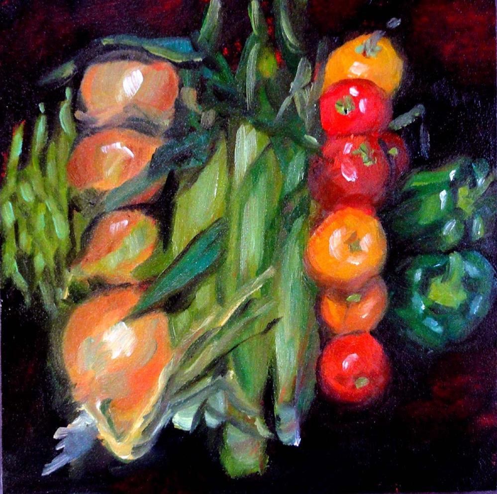 """Harvest Bounty"" original fine art by Cietha Wilson"