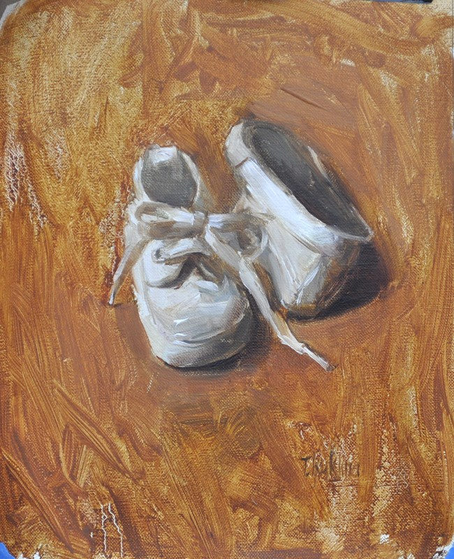 """white shoes"" original fine art by Taisia Kuklina"