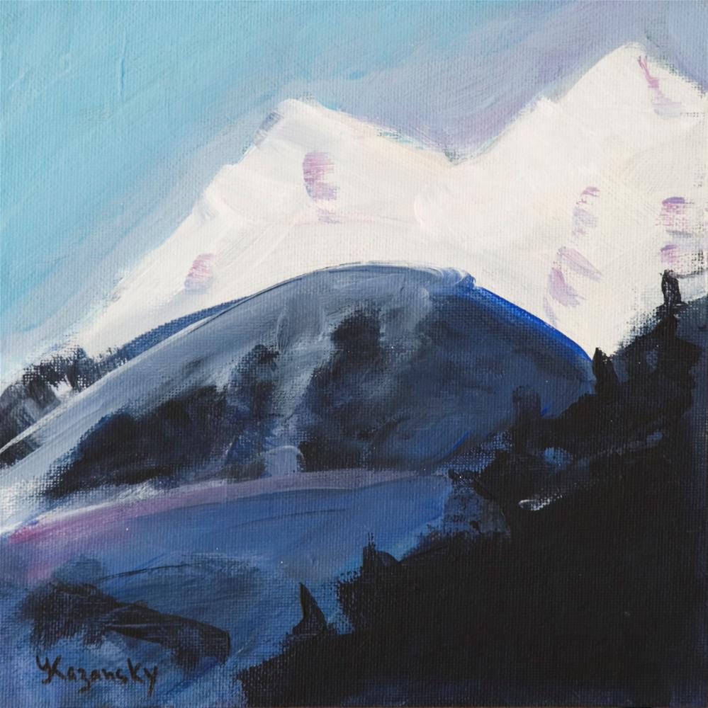 """Alaska mountains, sketch"" original fine art by Yulia Kazansky"