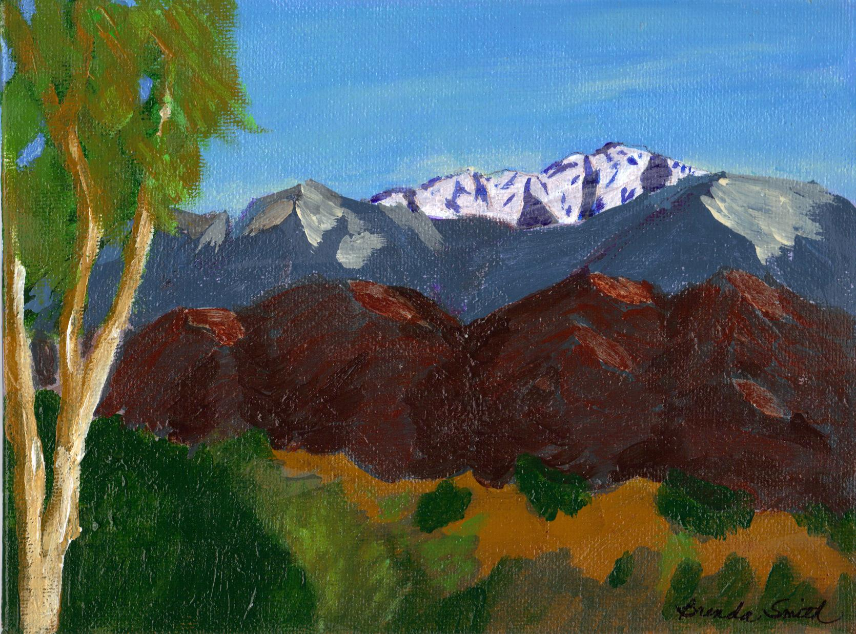 """Mountain View to South West"" original fine art by Brenda Smith"