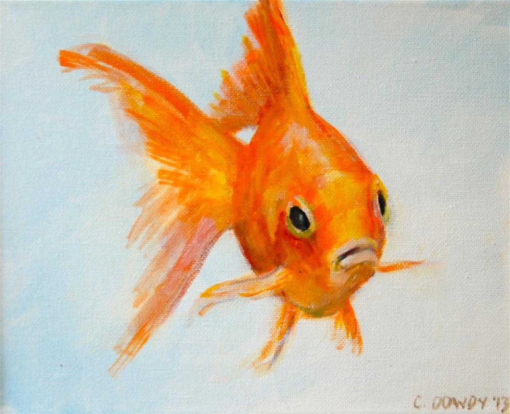 """Fish Food All Gone?? Part II"" original fine art by Christina Dowdy"
