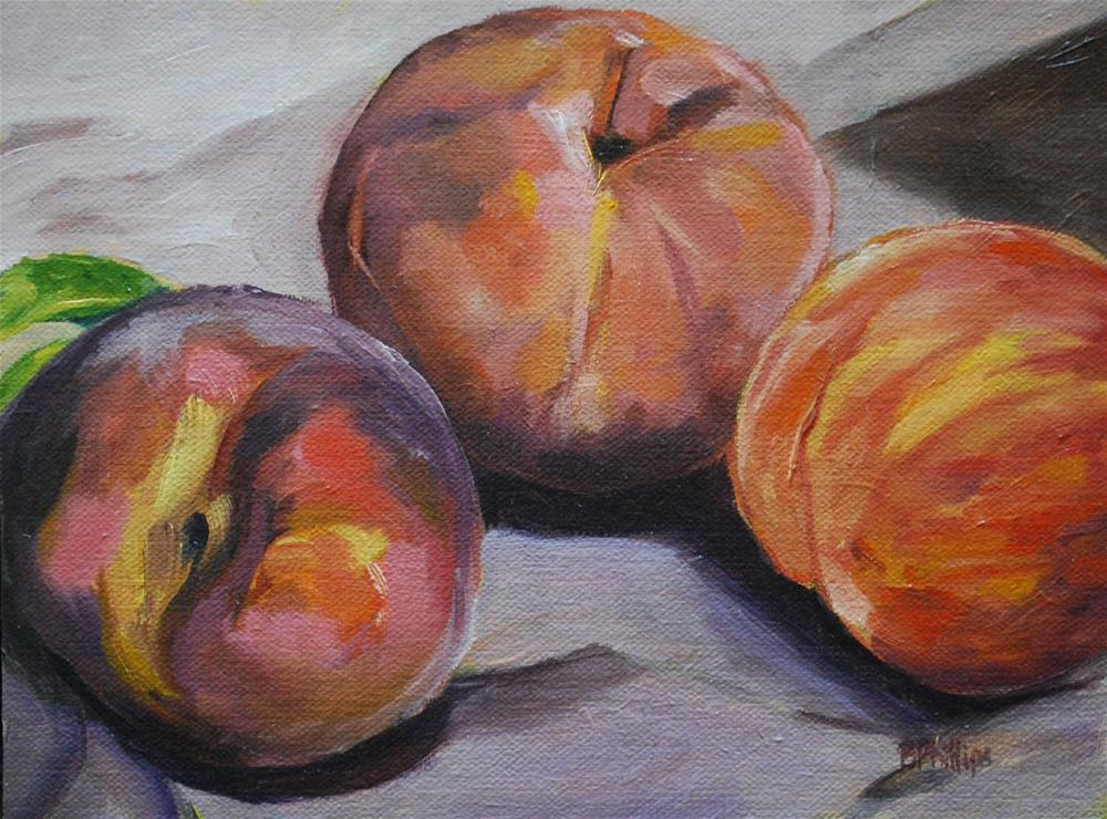 """More peaches"" original fine art by Beverley Phillips"