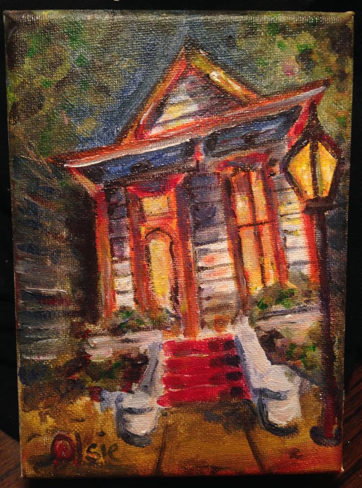 """Marigny Porch"" original fine art by Eric Clay Dean"
