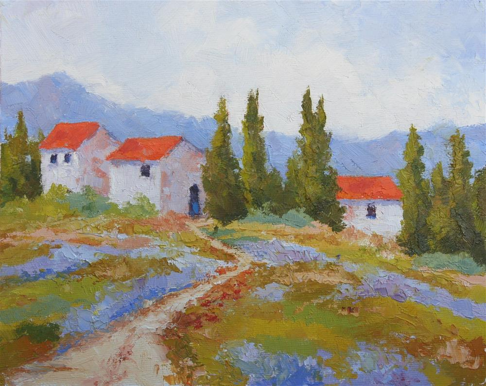 """Provence Rooftops"" original fine art by Mark Bidstrup"