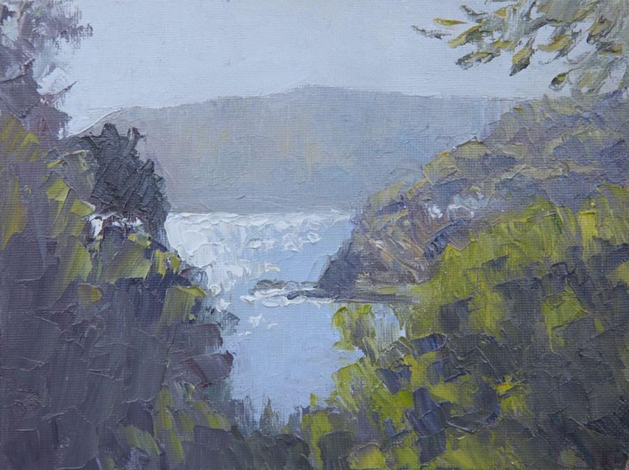 """""""Sea Glimpse"""" original fine art by Jethro Knight"""