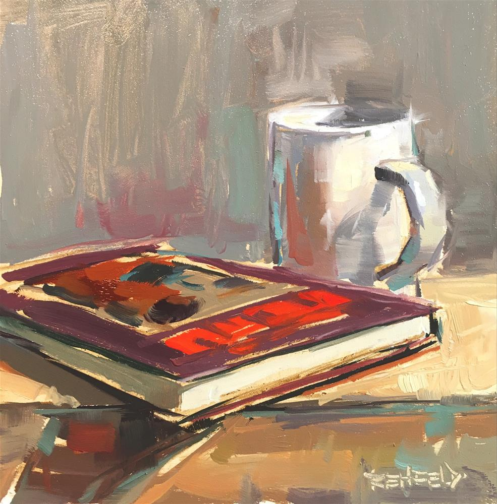 """""""A Good Book"""" original fine art by Cathleen Rehfeld"""