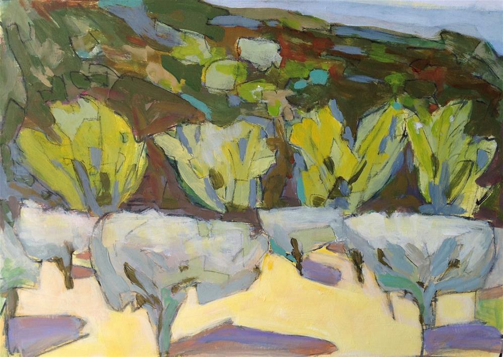 """""""Oppede-Le-Vieux 3"""" original fine art by Patricia MacDonald"""