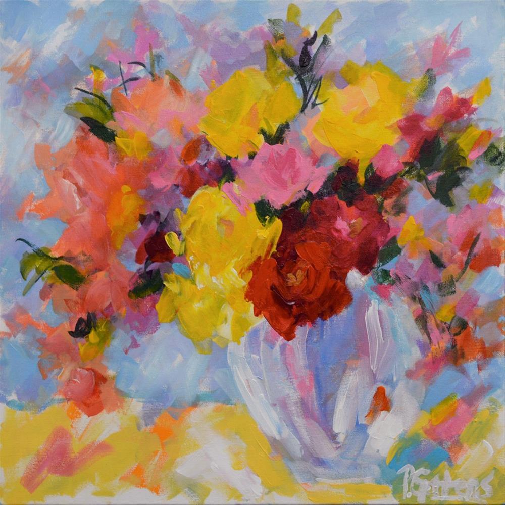 """Studio Bouquet"" original fine art by Pamela Gatens"