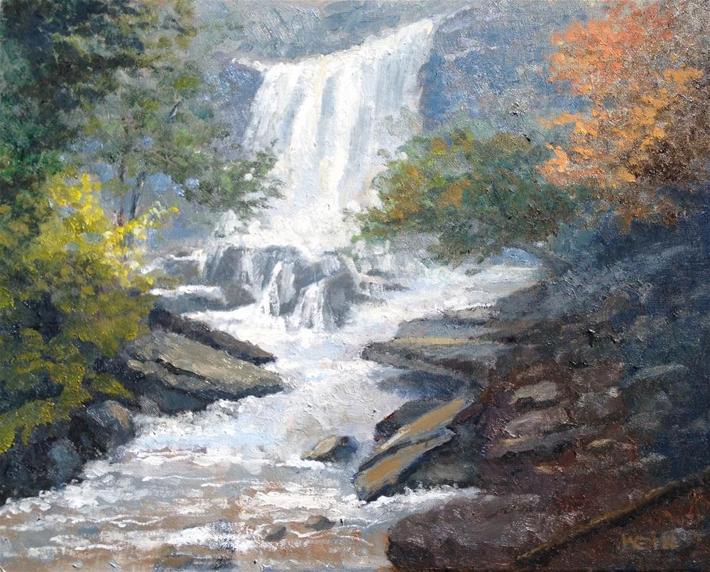 """Catskills New York Falls"" original fine art by eric wein"