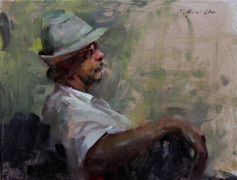 """""""Richard"""" original fine art by Fongwei Liu"""