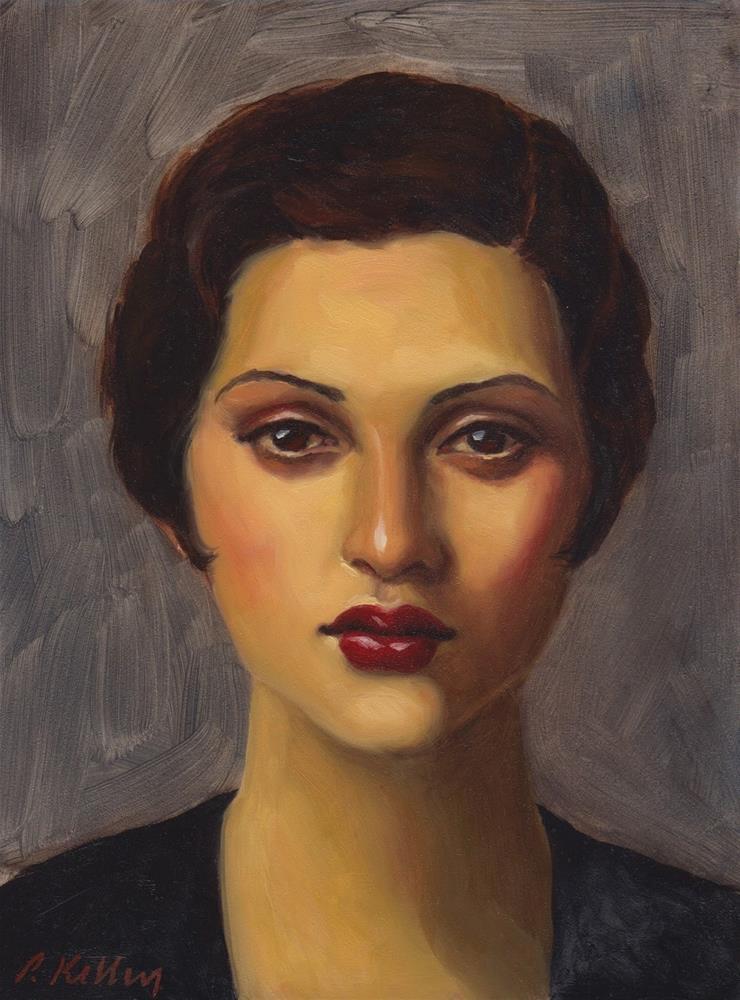"""Portrait of a French Girl"" original fine art by Pat Kelley"