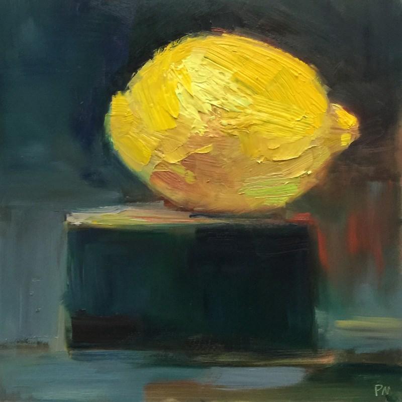 """Lemon Color Wheel"" original fine art by Patti McNutt"