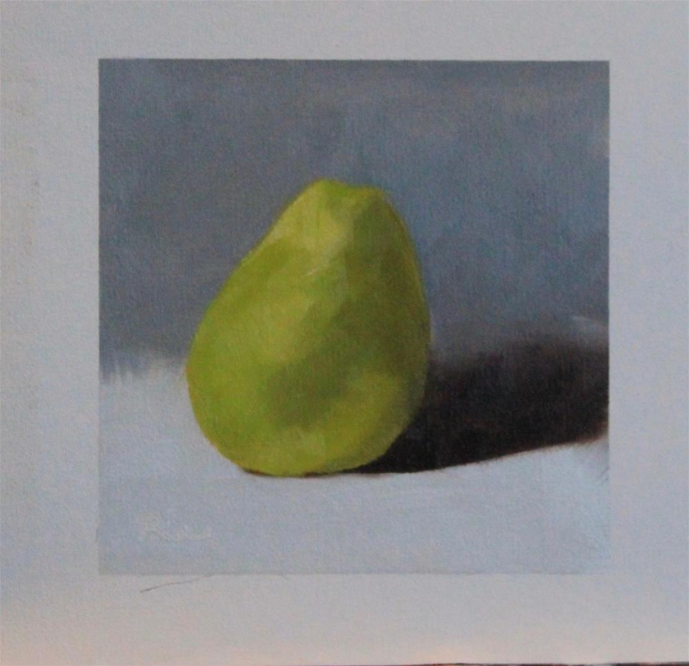 """Oh Pear"" original fine art by Maria Reed"