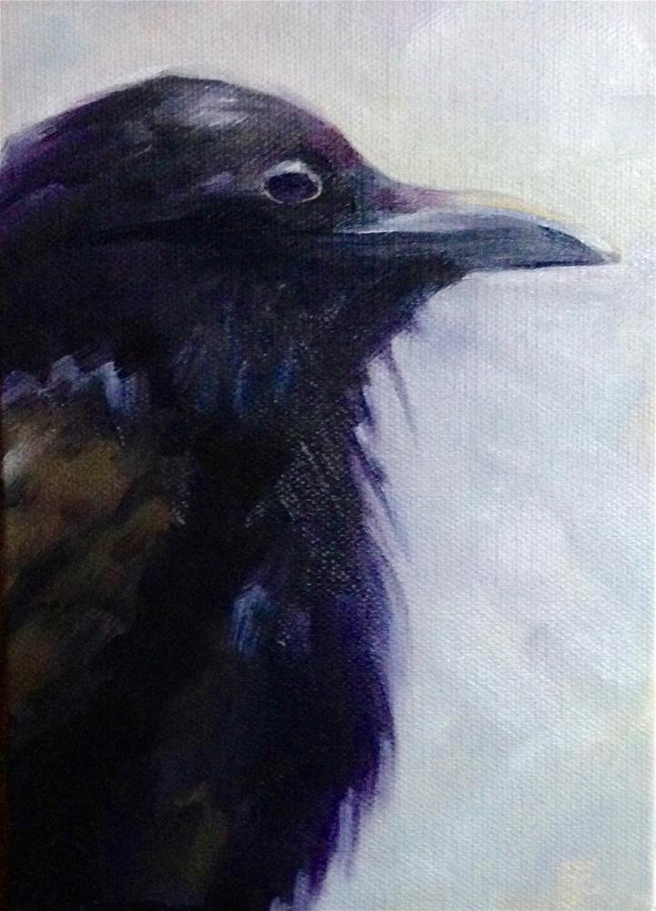"""Juvenile Raven"" original fine art by Bobbie Cook"
