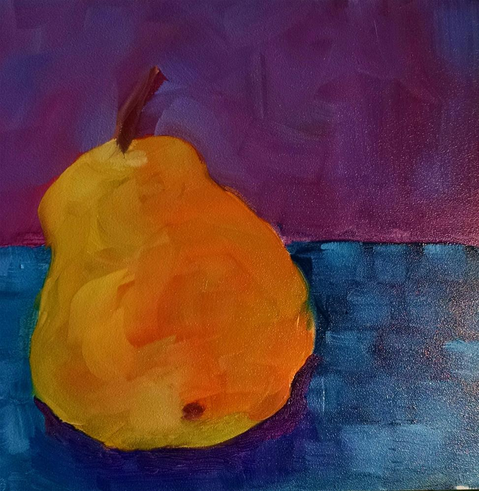 """Amber Pear"" original fine art by Kathy Fleming"