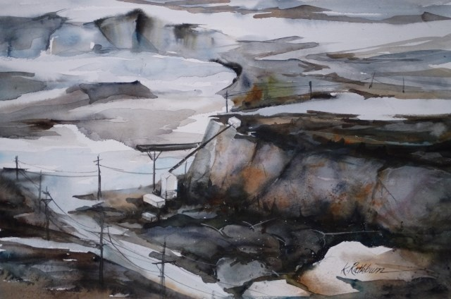 """Thornton Quarry"" original fine art by Kathy Los-Rathburn"