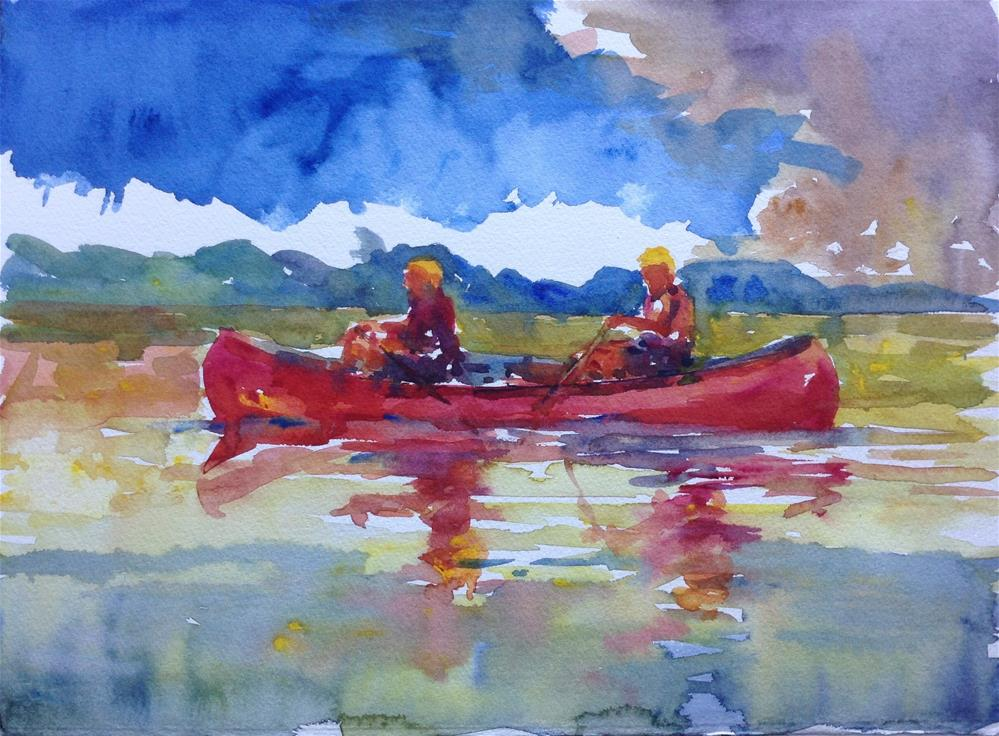 """Canoe"" original fine art by Joseph Mahon"