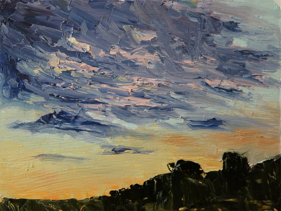 """Dusk Clouds"" original fine art by Jethro Knight"