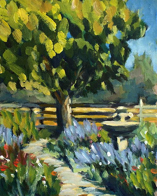 """Garden Path"" original fine art by J. Farnsworth"