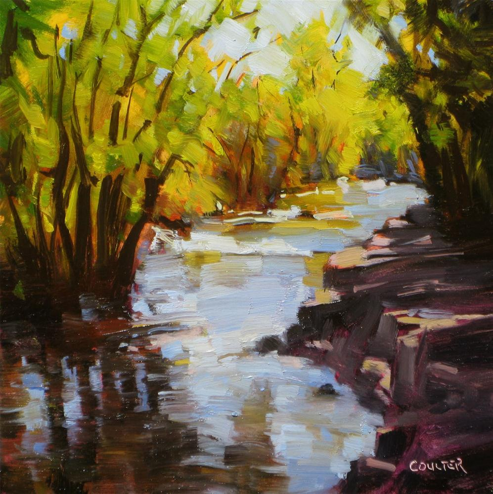 """BOULDER CREEK"" original fine art by James Coulter"