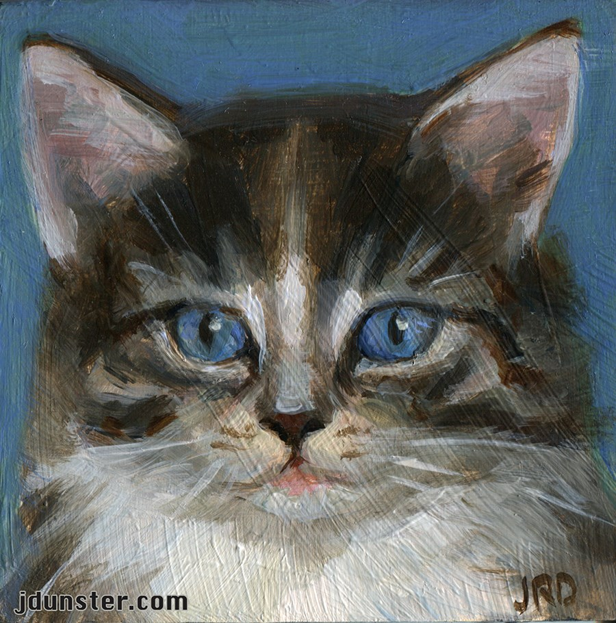 """Itty Bitty Kitty"" original fine art by J. Dunster"