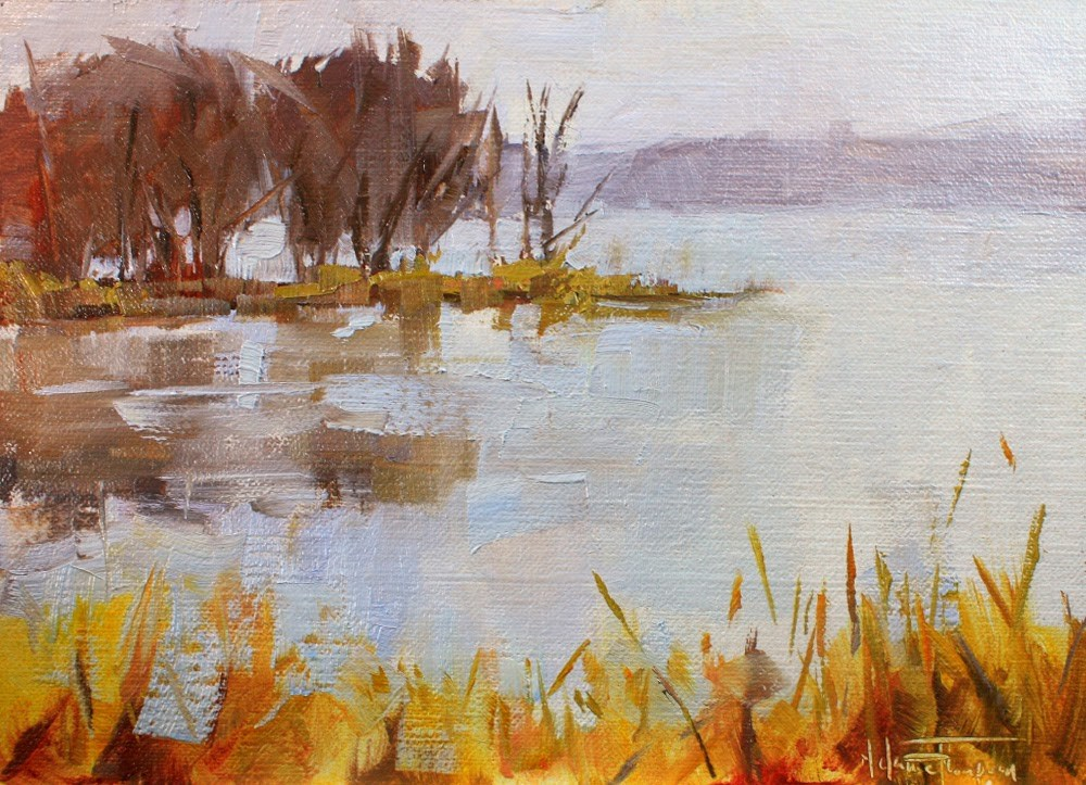 """Freezing Fog"" original fine art by Melanie Thompson"