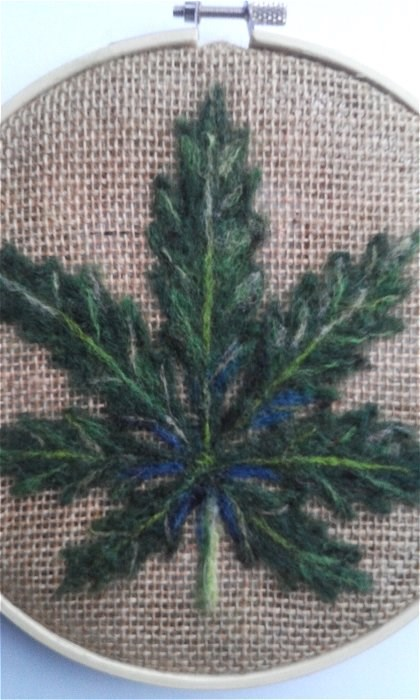 """Marijuana Leaf"" original fine art by Camille Morgan"